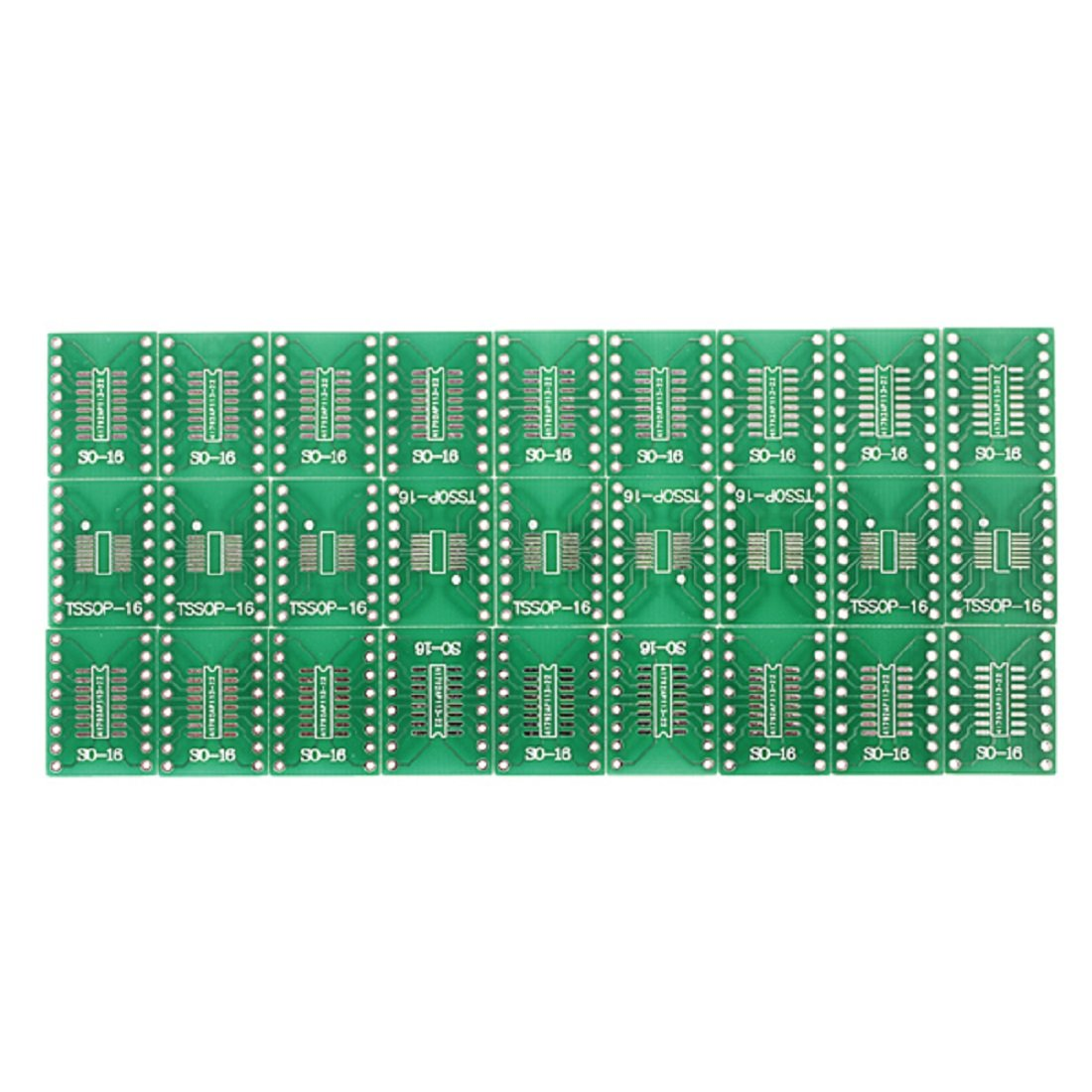 27 Pcs SO / SSOP / TSSOP / DIP 16 On DIP16 Adapter PCB Converter Double Pages