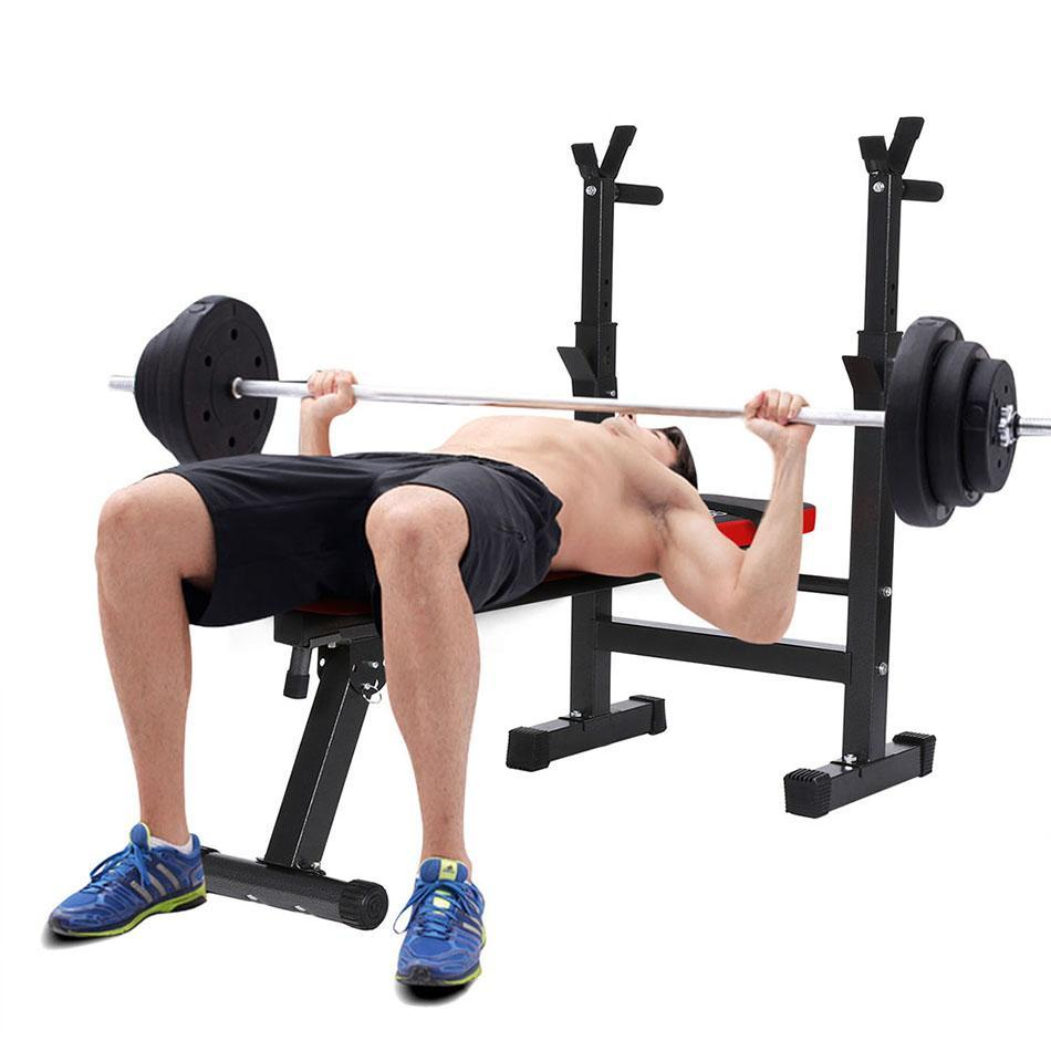 87ad637e90 ANCHEER Multi-Functional Weight Bench gym Hantelbank Height Adjustable  Bench Press Squat Rack Fitness Folded