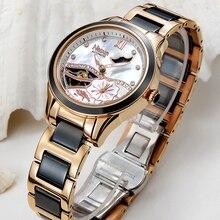 NESUN Women Hollow Automatic Mechanical Watches Luxury Brand