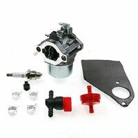 Carburetor Gaskets Spark Plug KIT For Briggs & Stratton 699831 694941 499158 499163