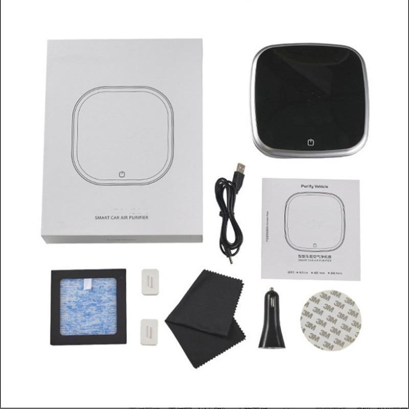 Car Air Purifier Freshener Portable Cleaner Car Fresh Air Negative Ion Purifier Oxygen Bar Ozone Ionizer Indoor Accessories
