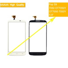 10Pcs/lot For Alcatel One Touch Pop S9 7050 OT7050Y OT7050 7050y Touch Screen Panel Sensor Digitizer Front Glass Touchscreen стоимость