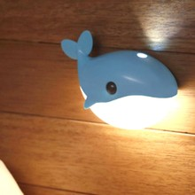 Baby Feeding LED Night Light Blue Whale Night Light Sense Lamp for Bedroom Corridor Bathroom For Monther Night Lamp(China)