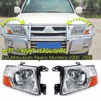 1 пара фар для Mitsubishi Pajero Montero 2000 2001 2002 2003 2004 2005 2006 комплект для освещения автомобиля противотуманных фар