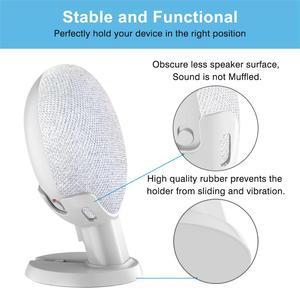 Image 4 - Dla Google Nest Mini Home Mini stojak na biurko asystenci głosowi kompaktowy uchwyt Case Plug in Kitchen sypialnia Study Audio Mount