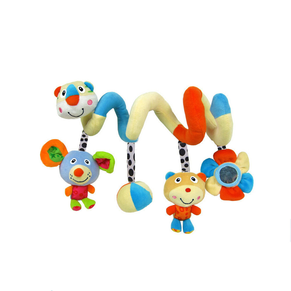 Baby Crib Cot Pram Hanging Rattles Spiral Stroller Car Seat Toys Ringing Bells
