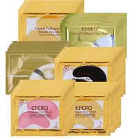 Efero 5/8/10 paar 24K Gold Kollagen Auge Masken Gesicht Pflege Anti Aging Auge Taschen Dark circles Patches für die Augen Pad Patch
