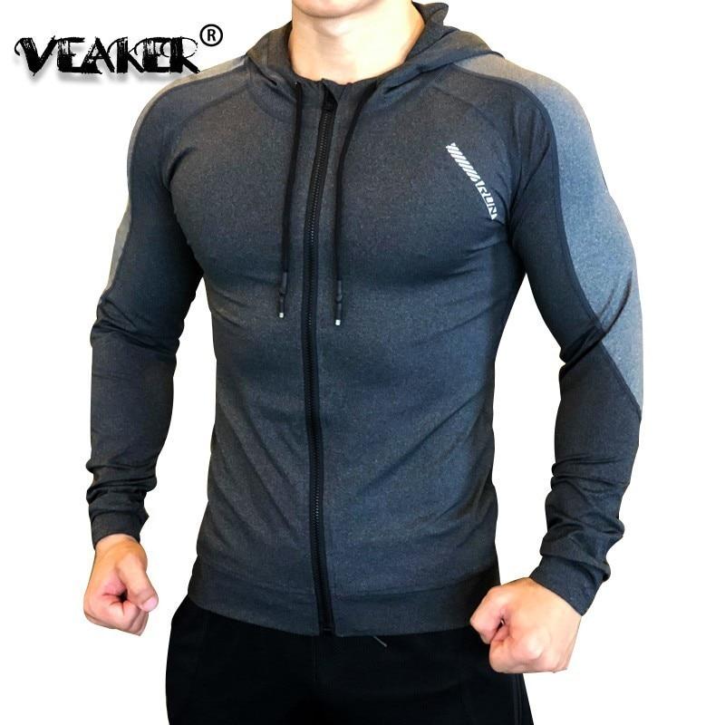 Gym Jacket Men Sports Coat Fitness Long Sleeve Running Elastic Tight Hoodies Zipper Slim Hiking Sweatshirts Male Jogging Jackets