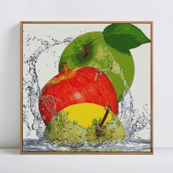 HUACAN 5d diy Diamond Painting fruit Full Square Diamond Embroidery apple Strawberry Mosaic Picture Of