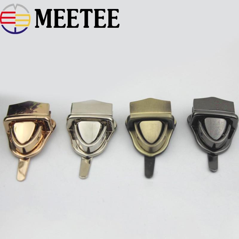 Apparel Sewing & Fabric Sporting 2set/lot Metal Turn Lock Snap For Handbag Women Bag Twist Locks Clasps Closure Diy Metal Buckle Hardware Accessories Rapid Heat Dissipation Buckles & Hooks