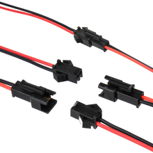 5 Pairs Electrical Plug Connector Cable PVC Plastic 2 Pin SM Connectors Wire Male + Female Of Each