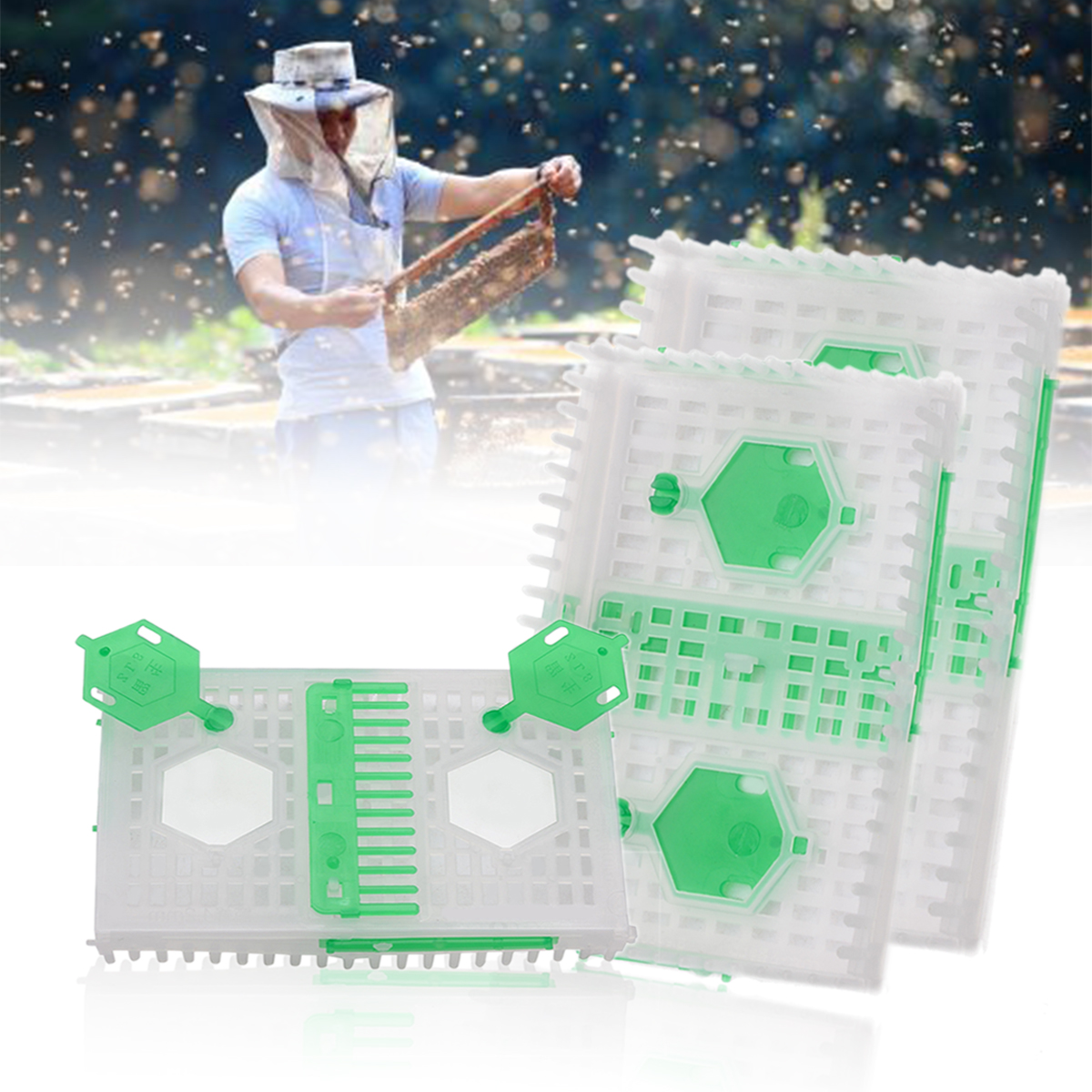 1pc Beekeeping Queen Cage Plastic Bee Hive Box Needle Cages Beekeeper Beekeeping Appliances Equipment Tool
