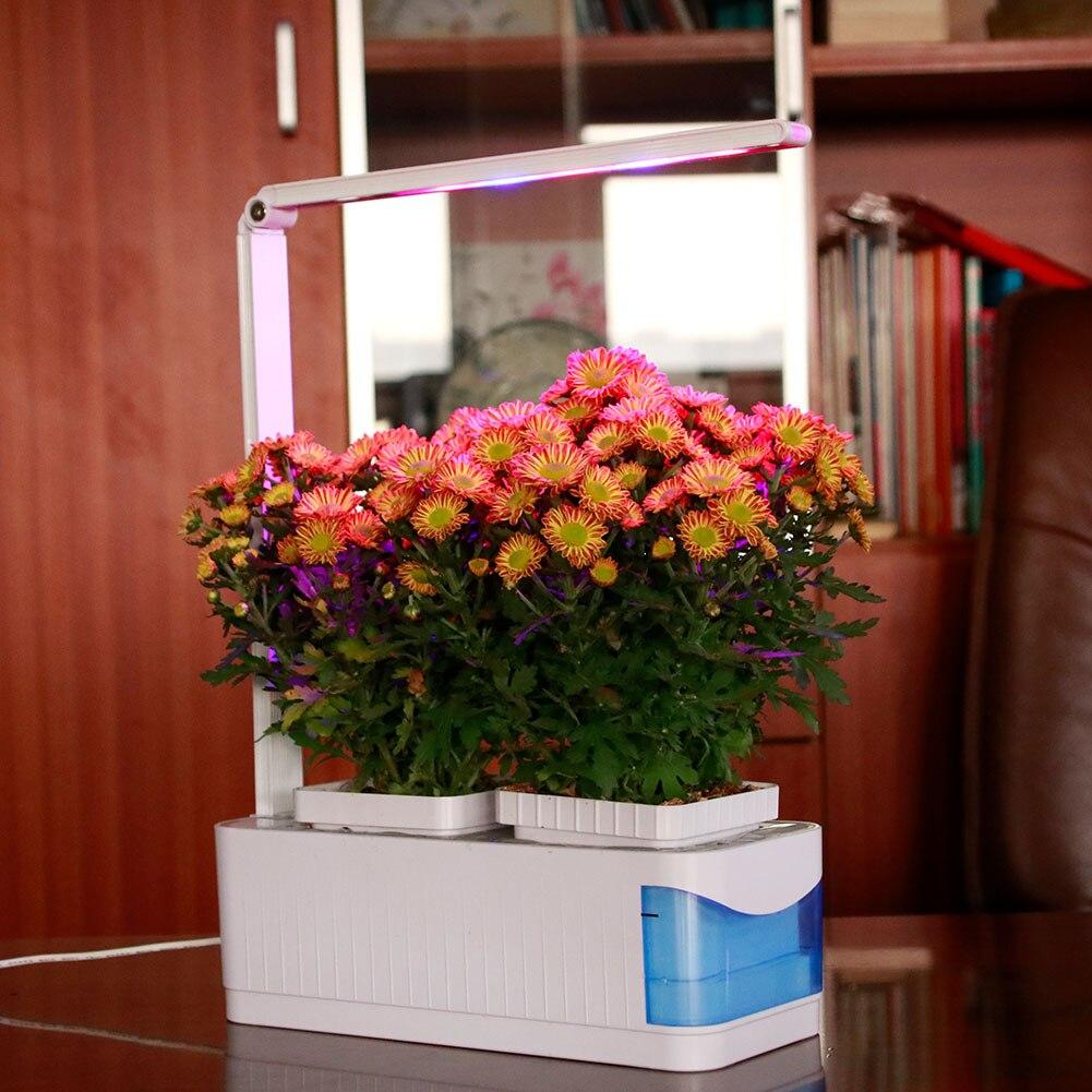 La culture hydroponique Herbe LED Plantes Poussent Réglable Plein Spectre Kit Jardin Lampe Intérieure