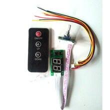คู่PotentiometerดิจิตอลระยะไกลเสียงควบคุมระดับเสียงLED 20Hz 20KHzสำหรับDC 5V 12V