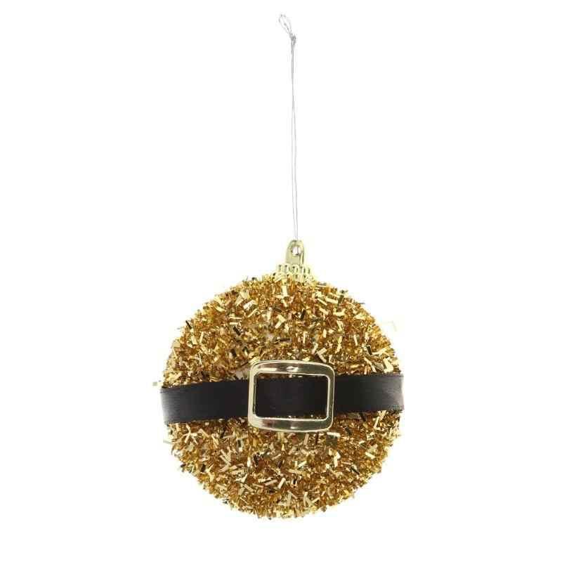 חג המולד כדור סרט חגורת אבזם נצנצים עיצוב עץ חג המולד כדור חג המולד המפלגה תליית כדור קישוט בית חג המולד דקור