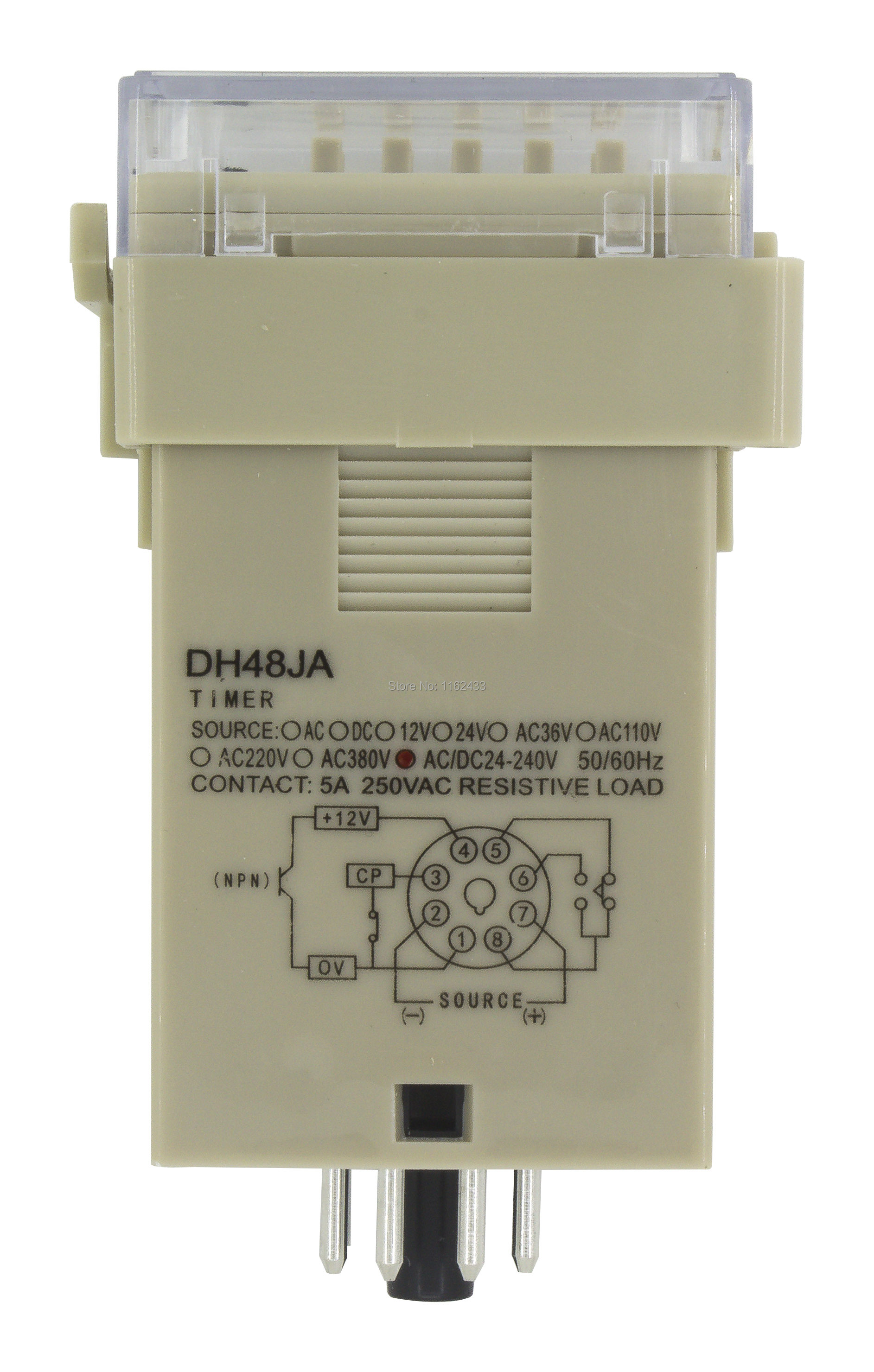 DIN Digital Counter 4 Digital Counter 110-220V AC