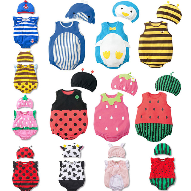 Christmas Lovely Infant Newborn Baby Boys Girls Clothes Cartoon Bodysuit Fruit Strawberry Pineapple Outfits Easter Costume