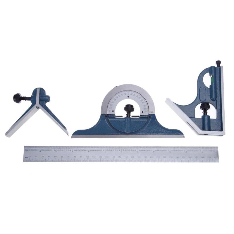 4pcs Universal Ruler Set 180 Degree Protractor Spirit Level Measuring Tools|Protractors| |  - title=