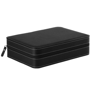 Image 3 - Portable Watch Box Organizer PU Leather Casket with Zipper Classic Style 10 Grids Multi Functional Bracelet Display Case