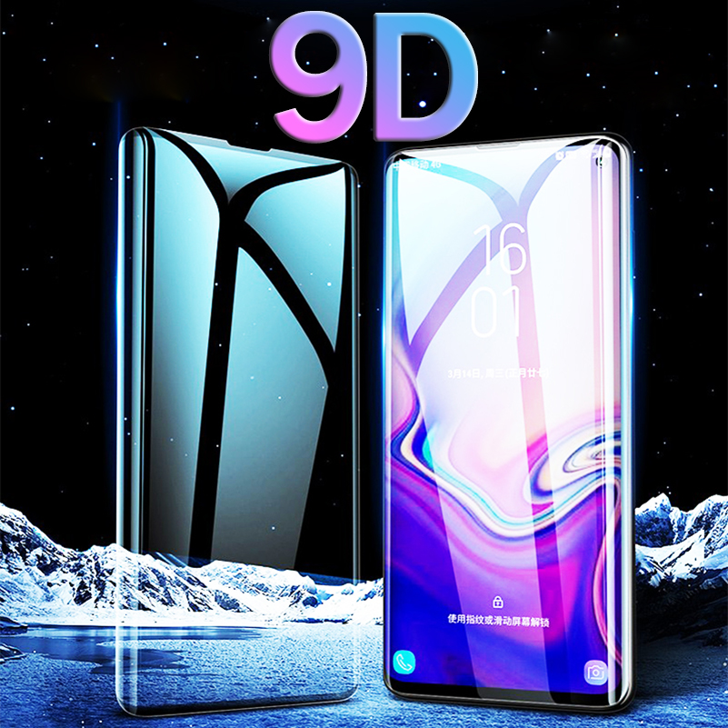 9D For Samsung Galaxy S10 E Plus Screen Protector Curved Sansung Galax S10 Light S 10 Plus 10e Tempered Glass Full Cover Sklo