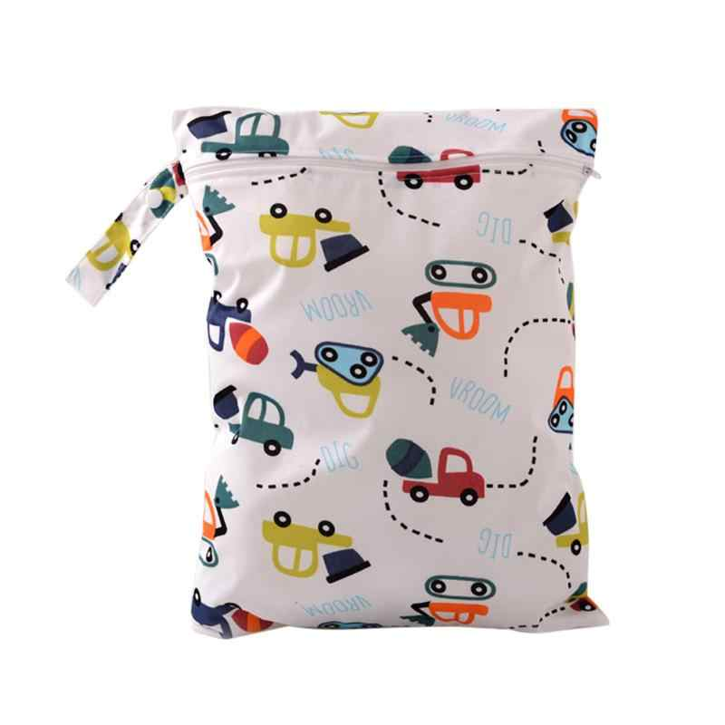 2019 Fashion Baby Diaper Bags Character Print Changing Wet Bag Baby Cloth Diapers Backpacks Cotton Cloth Baby Diaper Bag