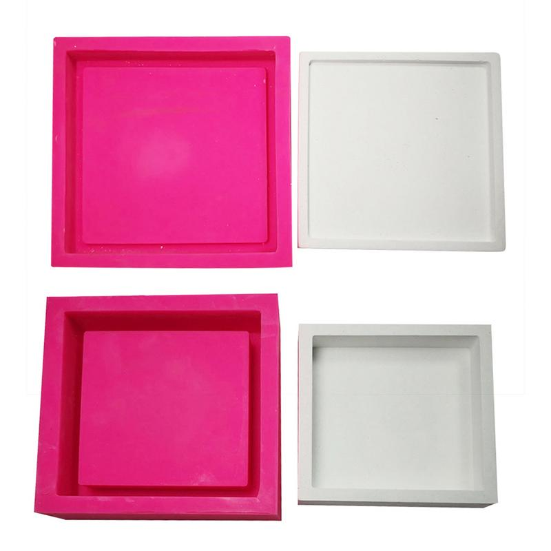 DIY Plaster Storage Tray Clear Water Concrete Table Goods Tray Home Decoration Crafts Concrete Planter Pallet Silicone Mold