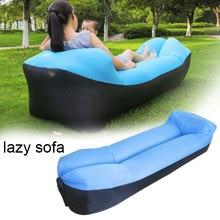 Открытый быстро Infaltable диван кровать хорошее качество надувной мешок воздуха ленивый диван пляж диван Laybag для кемпинга спальный