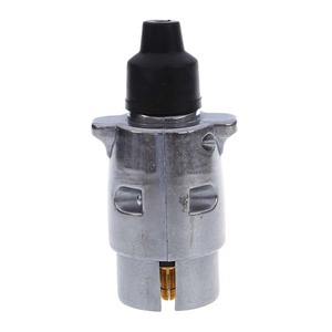 Image 2 - 7 Pin Trailer Plug Heavy Duty Round Pin 7 Pole Wiring Connector 12V Towbar Towing Caravan Truck Plug N Type Electrical Socket