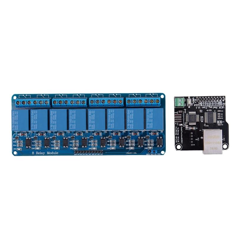 Ethernet Control Module Lan Wan Network Web Server Control Module RJ45 Port And 8 Channel Relay Control Module