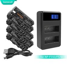 цена на Bonacell 3000mAh NP-F550 NP F550 NPF550 Battery+LCD Dual Charger for Sony NP-F330 NP-F530 NP-F570 NP-F730 NP-F750 Hi-8 L10