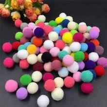 120 шт./лот, 10 мм, помпон, мягкие помпоны, пушистые плюшевые помпоны, многоцветные помпоны, помпоны, помпоны для домашнего декора, детские игрушки, товары для творчества, 62473
