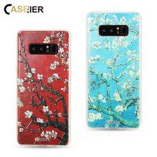 CASEIER Emboss Patterned Phone Case For Samsung Galaxy S8 Plus Soft TPU Cover Note 8 Almond Blossom Capinha Capas