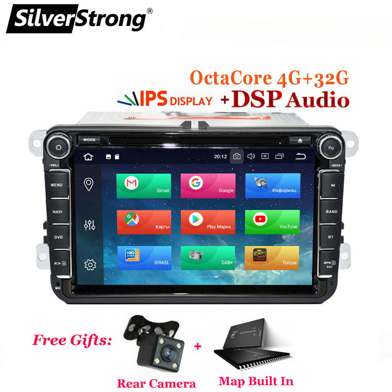 SilverStrong 4G 32G Android9 0VW Car DVD TPMS For Volkswagen PASSAT for Golf MK6 Navi GPS