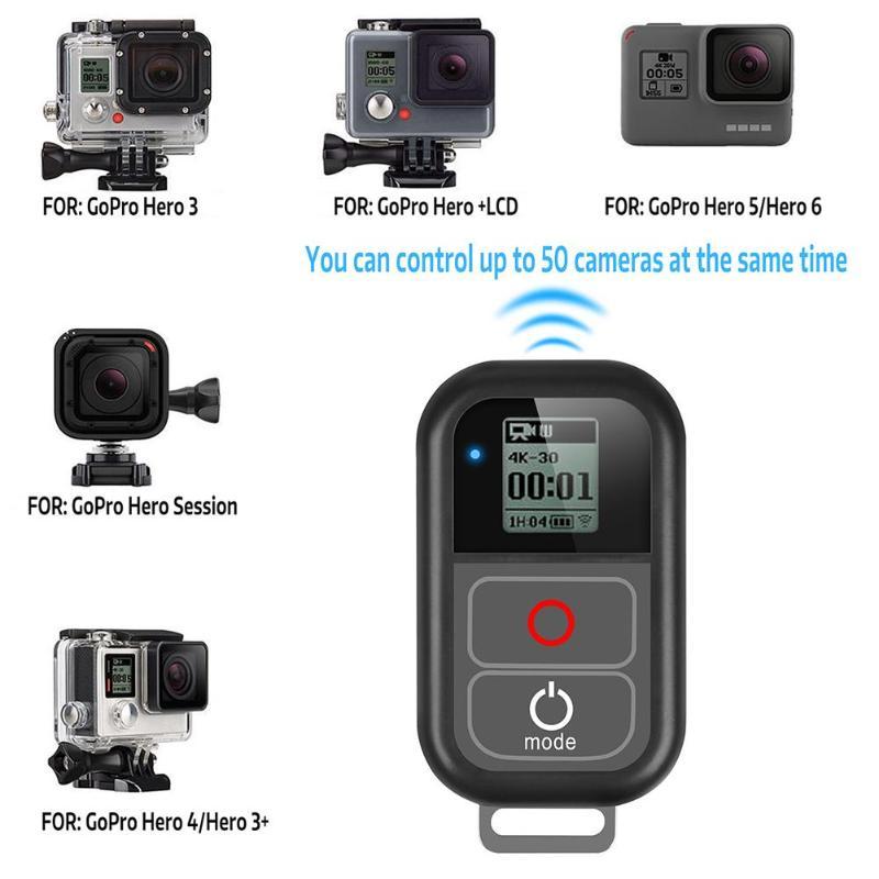 Télécommande WiFi sans fil intelligente avec câble de Charge dragonne pour GoPro Hero 7 6 5 4 Session accessoires de caméra livraison directe