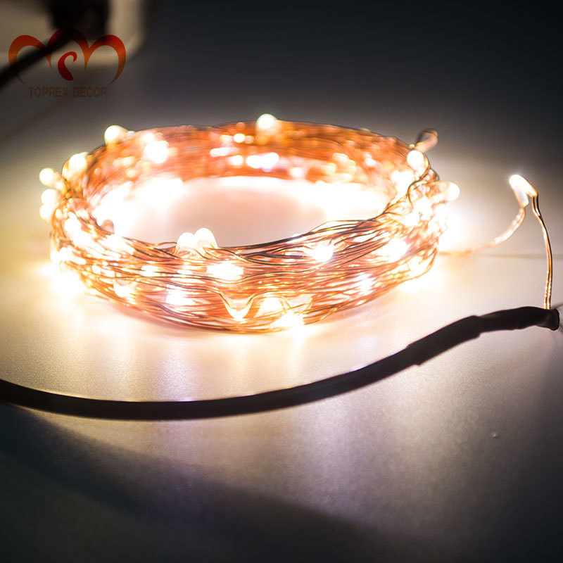 USB 5V 안전 전압 10m LED 구리 문자열 빛 크리스마스 - 휴일 조명 - 사진 4