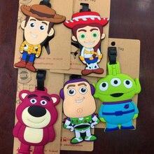 1 Pc Venta caliente juguete historia Woody Buzz Lightyear de fresa oso del  equipaje del PVC 1218f884c4f