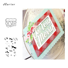 JCarter Cute Small Pattern Trinket Metal Cutting Dies or Clear Stamps for Scrapbooking DIY Embossing Folder Paper Maker Template