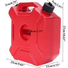 5L Plastics Fuel Tank Petrol Tanks Mount Motorcycle Can Gas Gasoline Oil Container Fuel-jugs
