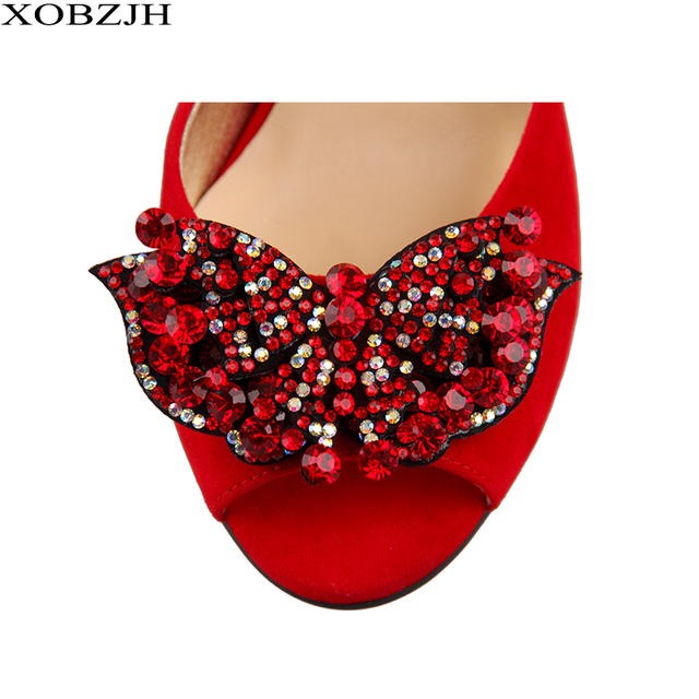 High Heels Sandals Women Shoes 2019 Sexy Ladies Luxury Leather Rhinestone Summer Sandals block heel Party Shoes Woman Open Toe 4