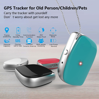 Mini GPS GSM Tracker Locator Phone for Kids Old Persons Pets Vehicle Real Time Smart Finder for IOS & Android Anti Lost SOS