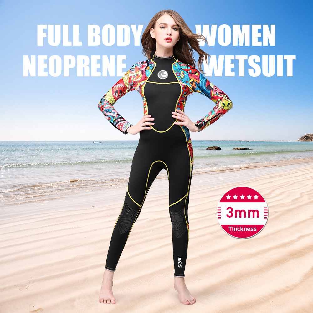 Long Sleeves Women Wetsuits Diving Suits 3mm Full Body Neoprene Wetsuit Color Diving Snorkeling Swimming Water Sport EquipmentLong Sleeves Women Wetsuits Diving Suits 3mm Full Body Neoprene Wetsuit Color Diving Snorkeling Swimming Water Sport Equipment