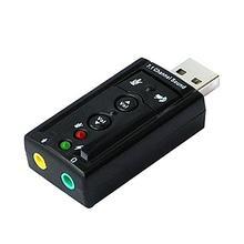 7,1 Внешняя USB звуковая карта USB к разъему 3,5 мм аудио адаптер для наушников Micphone Звуковая карта для Macbook Win Compter Android Linux
