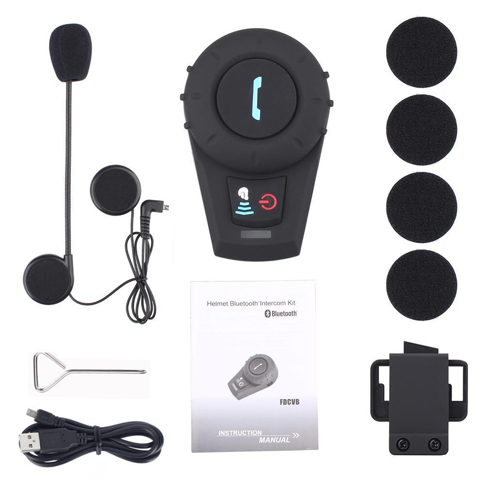 LumiParty Motorcycle Bluetooth Headset Motorcycle Helmet Bluetooth Intercom Helmet Bluetooth Headset BT Interphone FM Radio RNO
