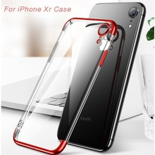 цена на For Iphone Xr Case For Iphone X Cover Soft Transparent Tpu Plating Cover For Iphone 7 Case For Iphone 6 6s 7 8 Plus Xs Max Case