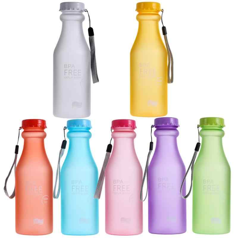 550ml Portable Sports Water Bottle Leak-Proof Anti Dropping Water Bottle Unbreakable Drink Cup  Colorful Unbreakable Outdoor