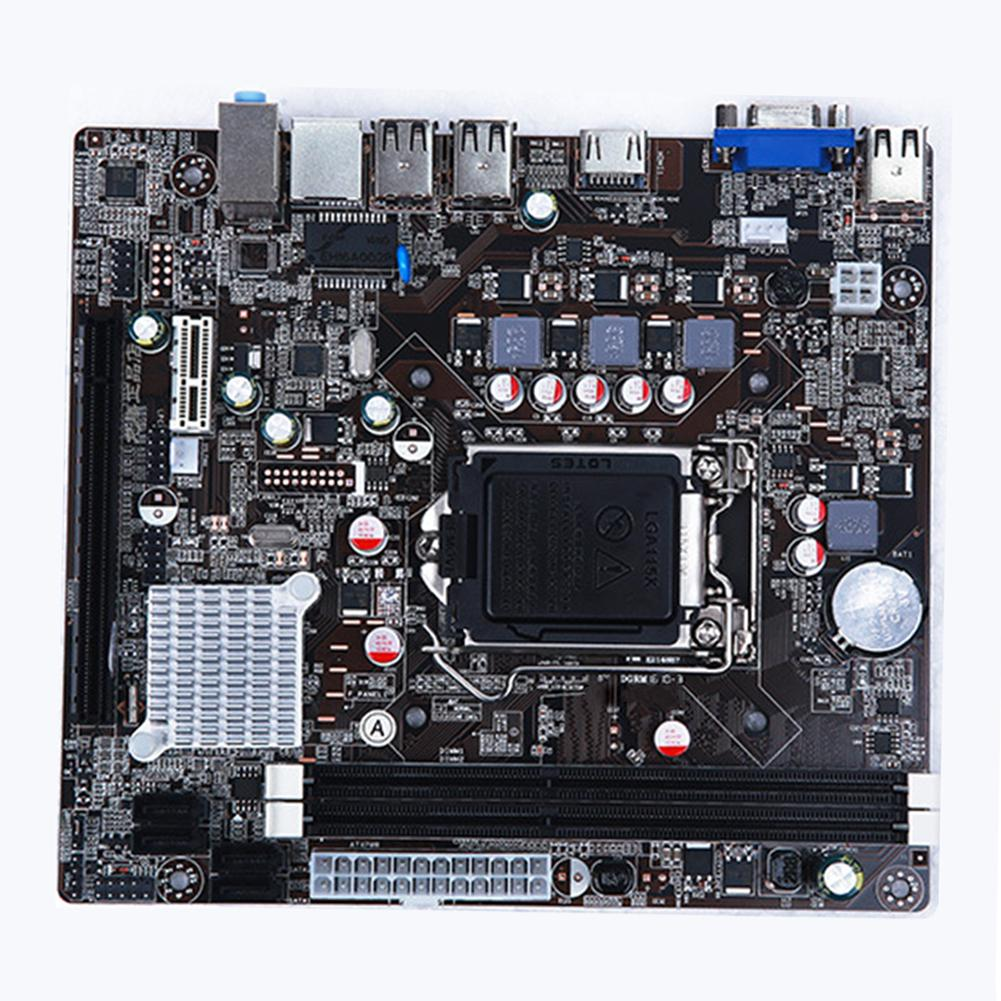 Socket LGA 1155 DDR3 Micro ATX Motherboard Mainboard Desktop Computer Mainboard for Intel H61-in Motherboards from Computer & Office