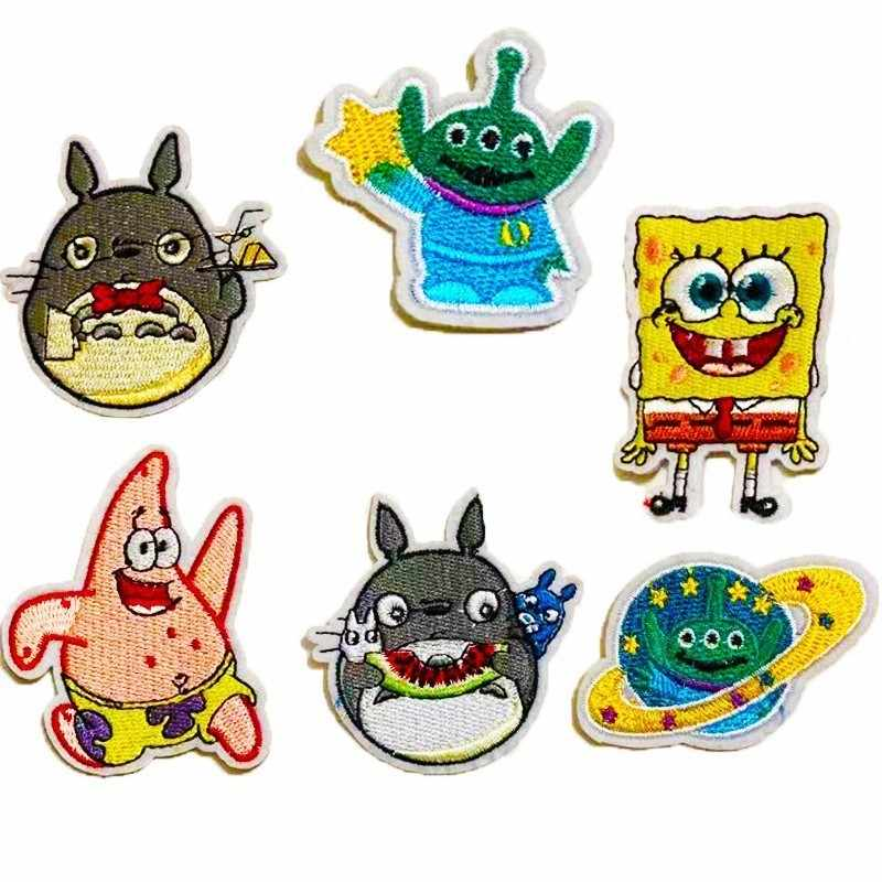 Spongebob Zeester Anime Patches Mijn Neighbor Totoro Iron On Applicaties voor Kleding Cartoon Aliens Badges Diy Jas Jeans Decor