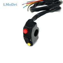 LMoDri motocicleta Multi-función interruptor universal faros de cláxon, de intermitente interruptores intermitentes en/de 22mm manillar ATV Scooter