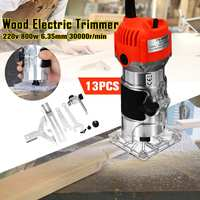 220V 800W 1/4 30000r/min Corded Electric Hand Trimmer Wood Laminator Router Joiners Tools for DIY Wooden/Cabinet Processing