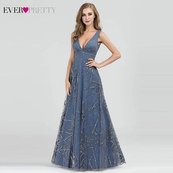 Sexy Prom Dresses Ever Pretty Deep V-Neck Sleeveless A-Line Cheap Women Formal Party Dresses Estidos De Fiesta De Noche 2020 2